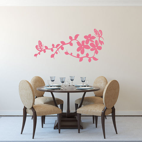 China Flower Wall Decal