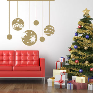 Christmas Ornaments-Wall Decal