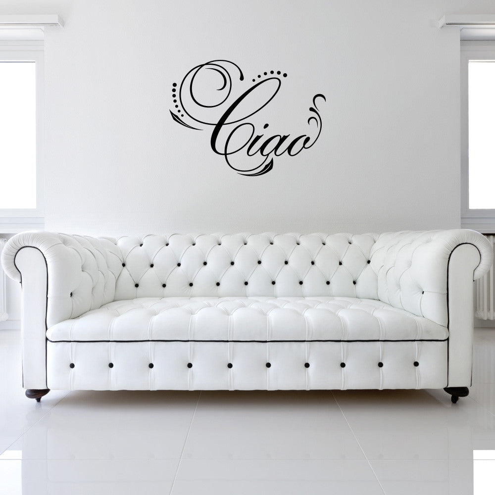 Ciao Wall Decal-Wall Decals-Style and Apply