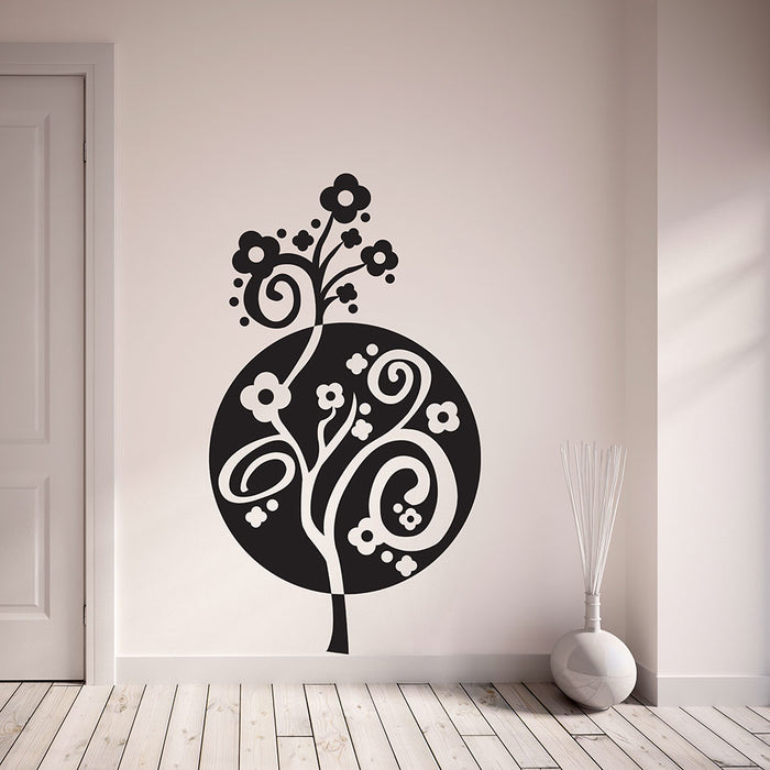 Circle Flower Wall Decal