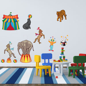 Circus Set-Wall Decal Stickers-Style and Apply