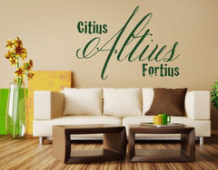Citius Altius Fortius-Wall Decals-Style and Apply