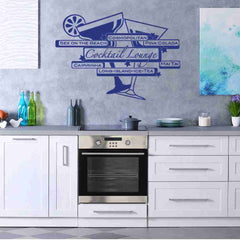 Cocktail Lounge Wall Decal-Wall Decals-Style and Apply