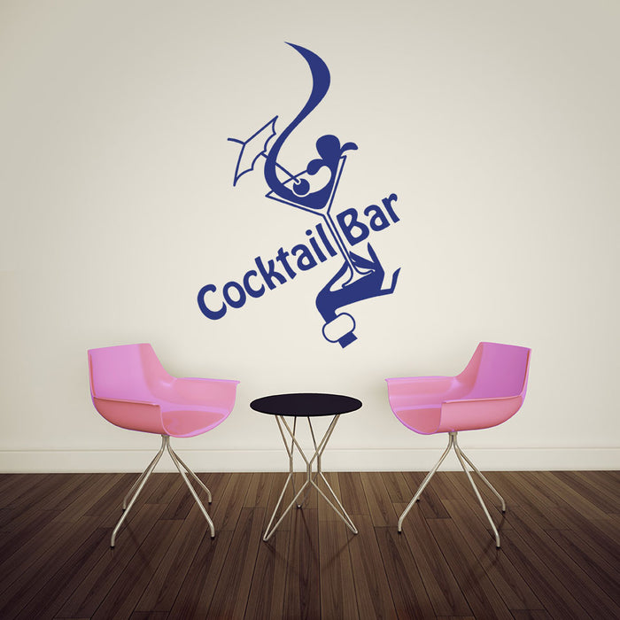 Cocktail Bar Wall Decal