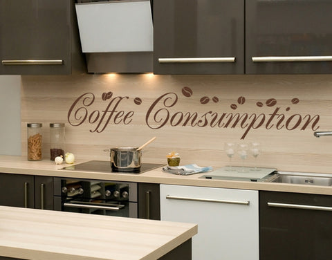 Coffee Consumption-Wall Decals-Style and Apply