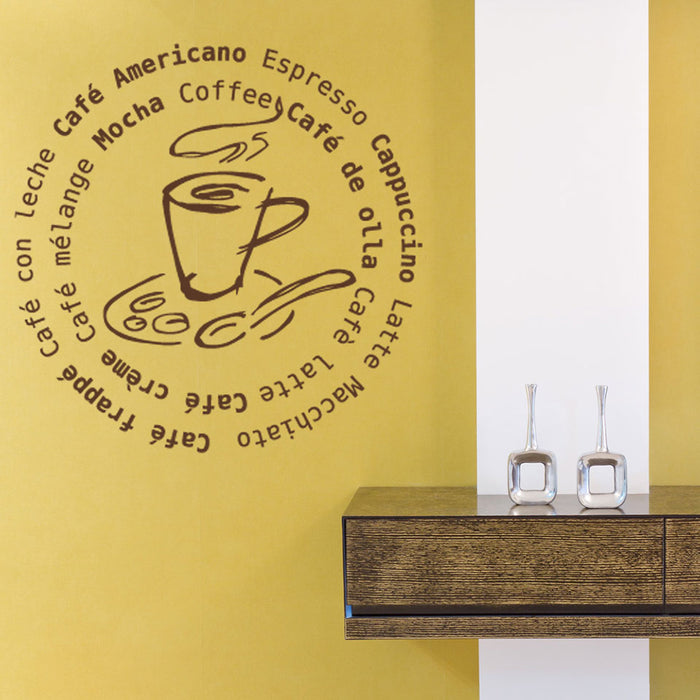 Coffee All Around Design Wall Decal