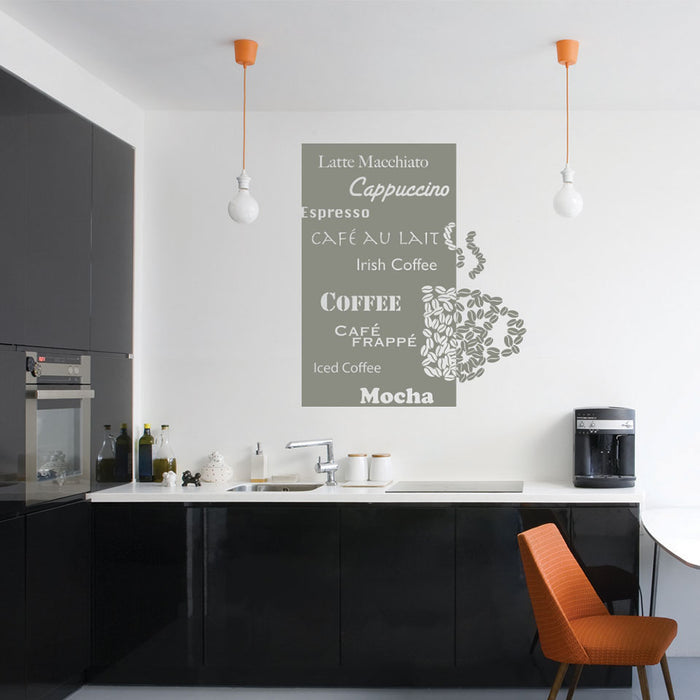 Coffee Deluxe Wall Decal