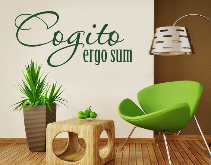 Cogito Ergo Sum Wall Decal