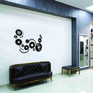 Cogwheels Wall Decal-Wall Decals-Style and Apply