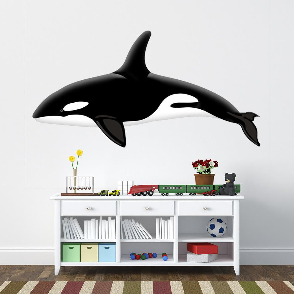 Colorful Orca II Wall Decal Sticker