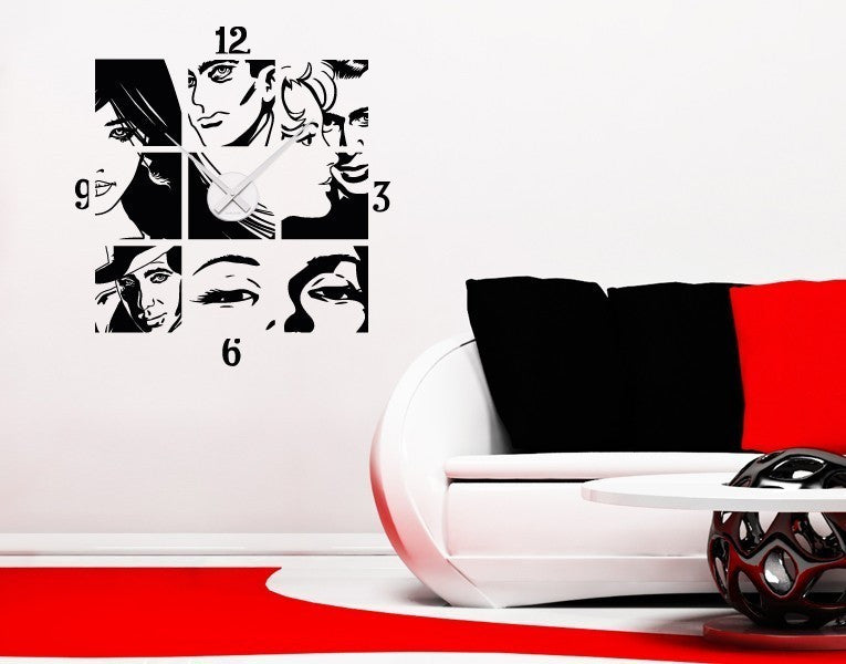 Comic Clock Decal-Wall Decal Clocks-Style and Apply
