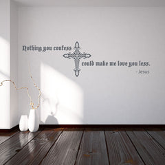 Nothing You Confess Could Make Me Love You Less Wall Decal
