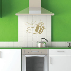Cooking with Love-Wall Decal