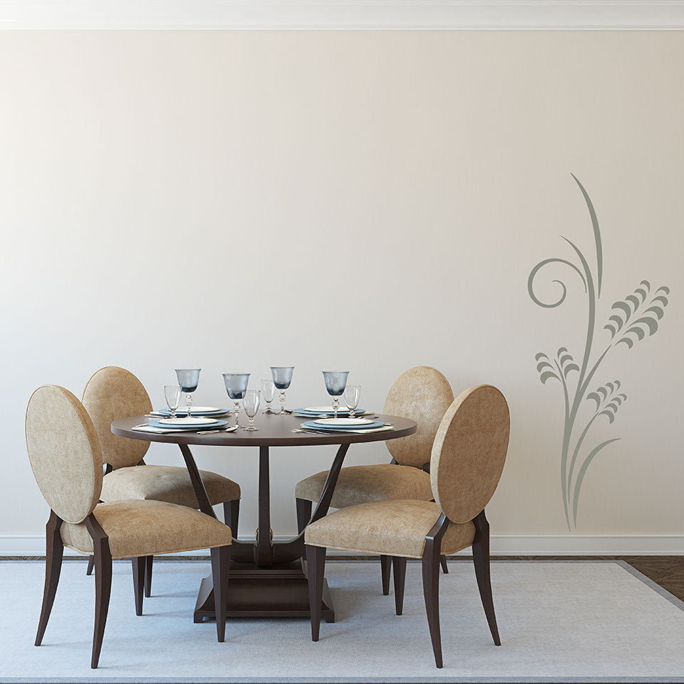Corn Branch floral Wall Decals