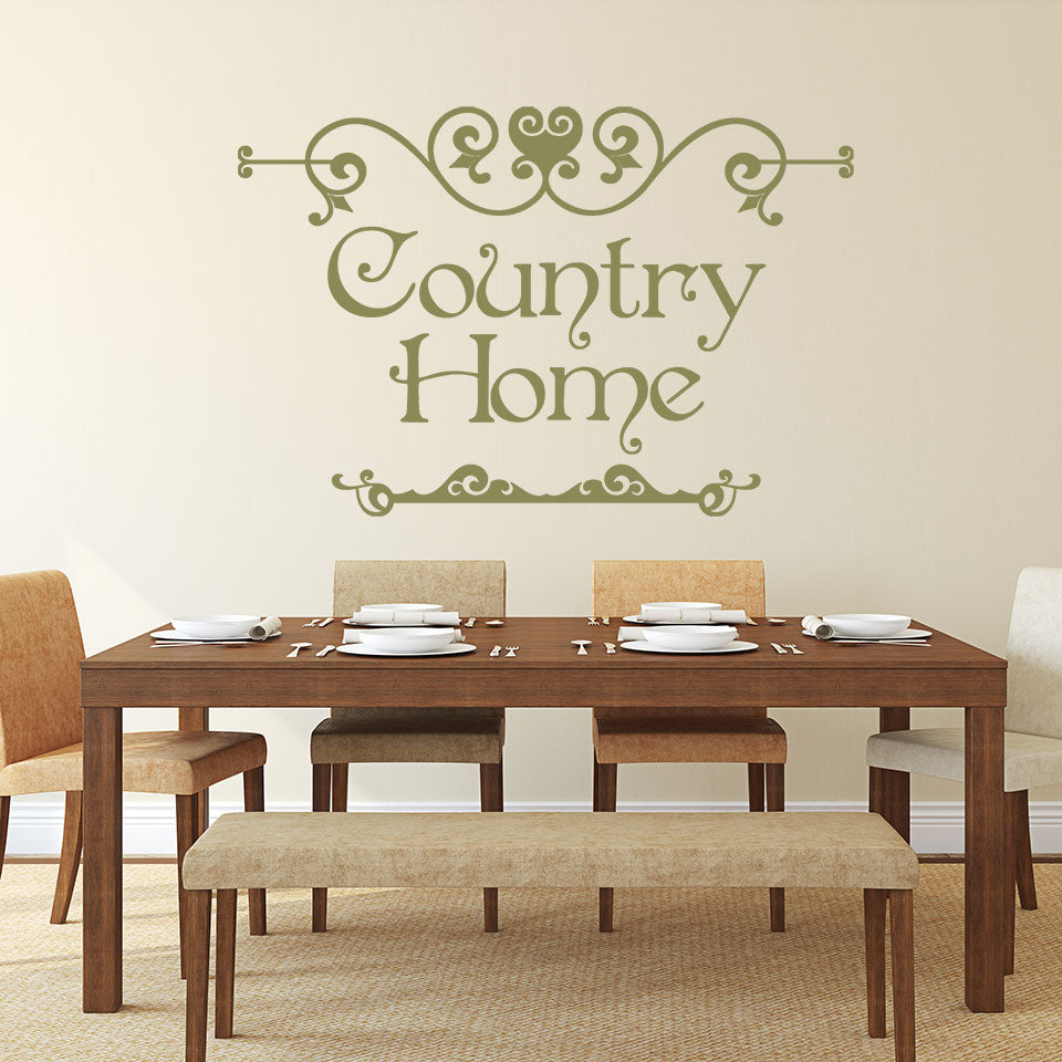 Country Home Sign Wall Decal