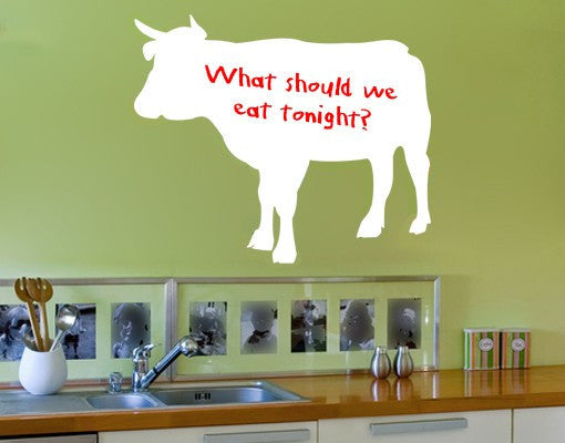 Cow-Blackboard and Whiteboard Wall Decals-Style and Apply & Cow Wall Decal Board u2013 Style and Apply