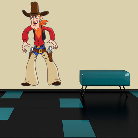 Cowboy Wall Sticker-Wall Decal Stickers-Style and Apply