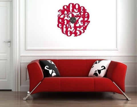 Crazy Numbers-Wall Decal Clocks-Style and Apply
