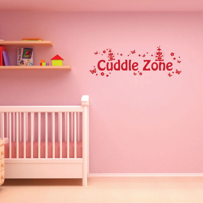 Cuddle Zone Wall Decal