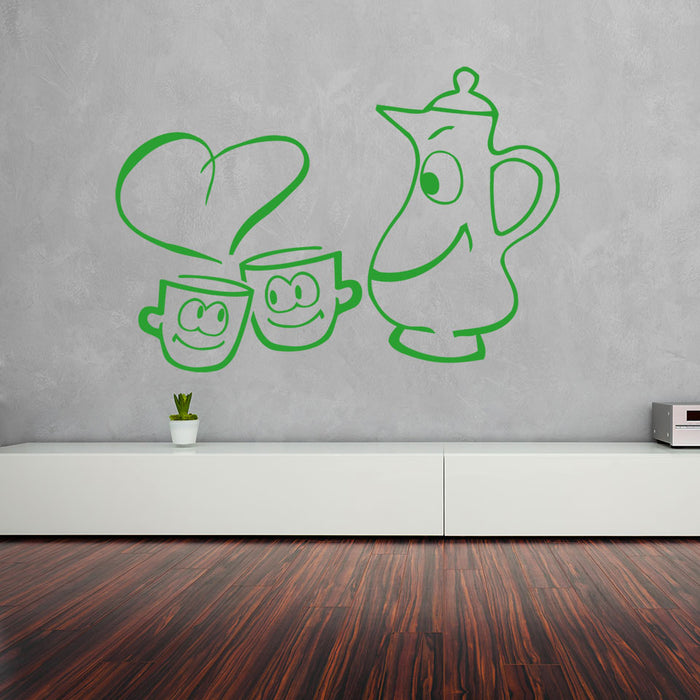 Cups in love Wall Decal