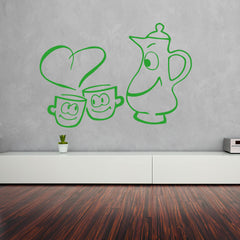 Cups in love-Wall Decal