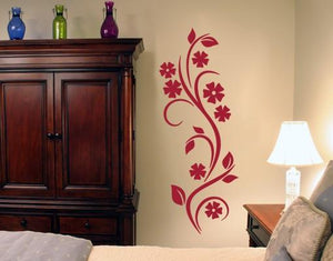 Curling Vine-Wall Decals-Style and Apply