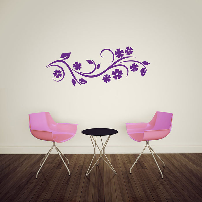 Curling Vine Wall Decal