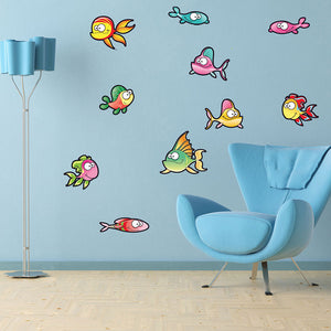 Cute Fish Set II-Wall Decal Stickers-Style and Apply