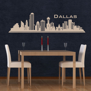 Dallas Skyline-Wall Decals-Style and Apply