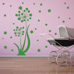 Dancing Flower Wall Decal