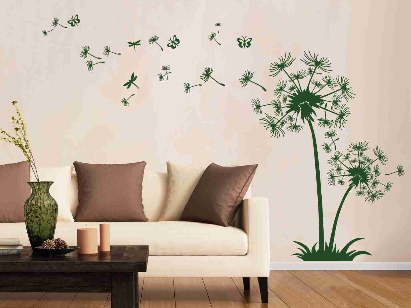 Dandelion de Luxe Wall Decal-Wall Decals-Style and Apply