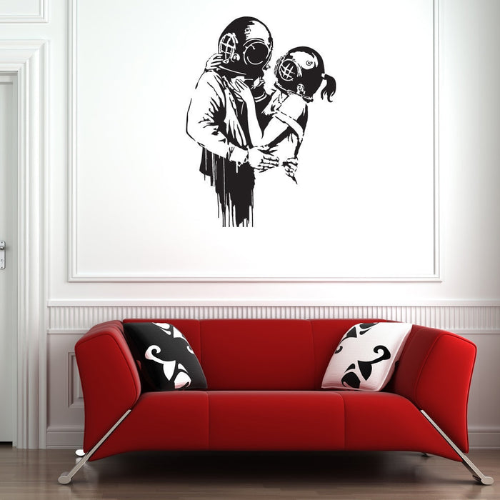 Deep Love Banksy Wall Decal