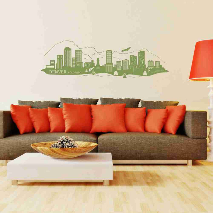 Denver City Skyline Wall Decal