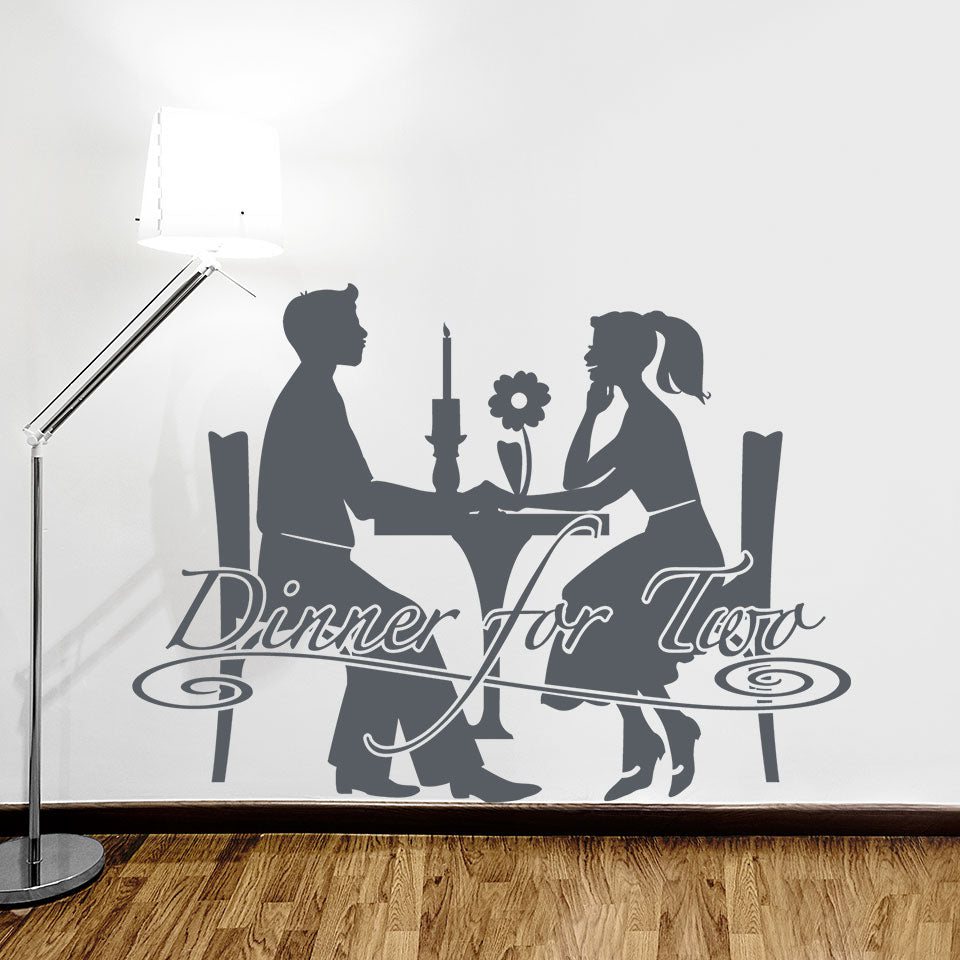 Dinner for Two-Wall Decal
