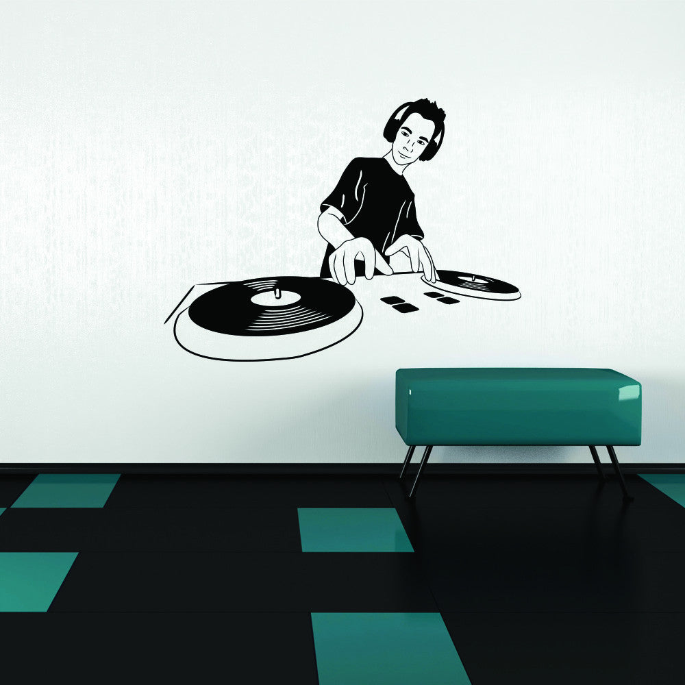DJ Wall Decal-Wall Decals-Style and Apply