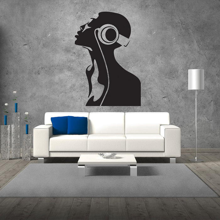 DJ Head Wall Decal