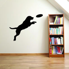 Dog with Frisbee Wall Decal