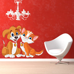 Dog and Cat-Wall Decal Stickers-Style and Apply