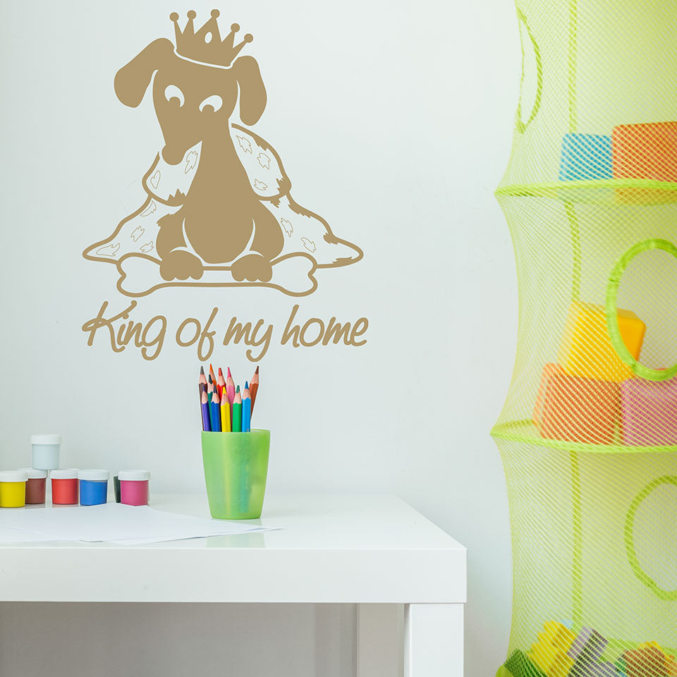 King of my Home Wall Decal-Wall Decals-Style and Apply