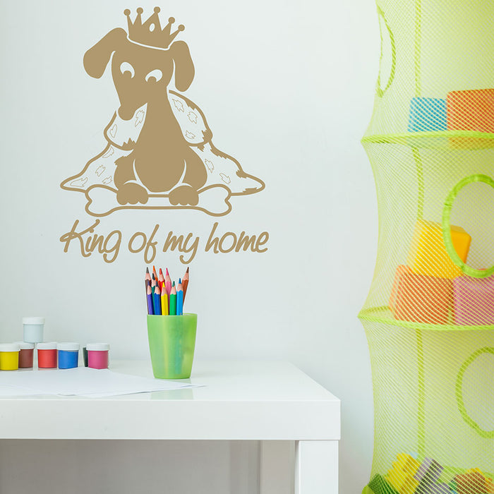 King of my Home Wall Decal