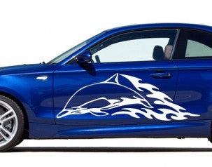 Dolphin-Car Decals-Style and Apply