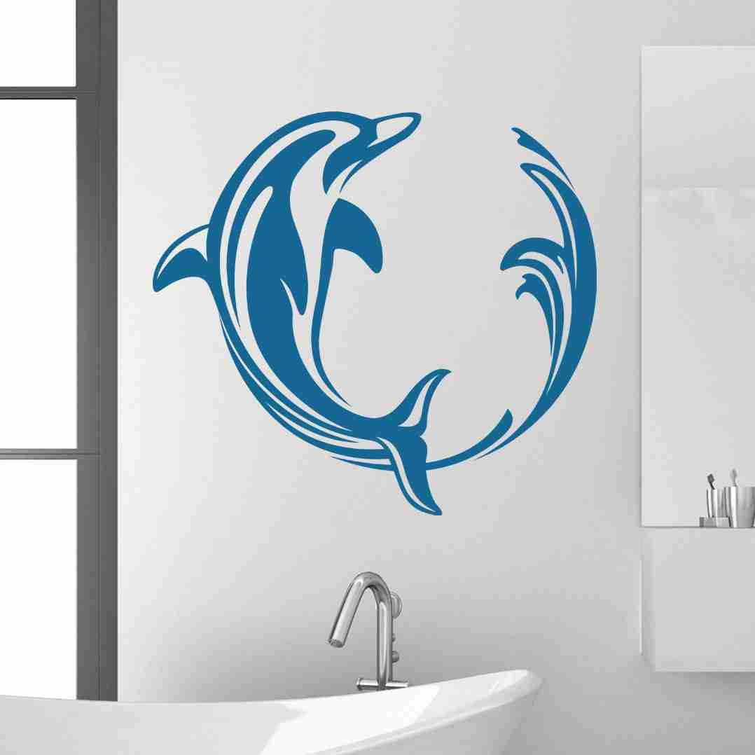 Dolphin Swirl Wall Decals-Wall Decals-Style and Apply