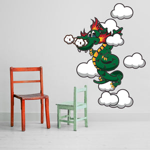 Wonder Dragon-Wall Decal Stickers-Style and Apply
