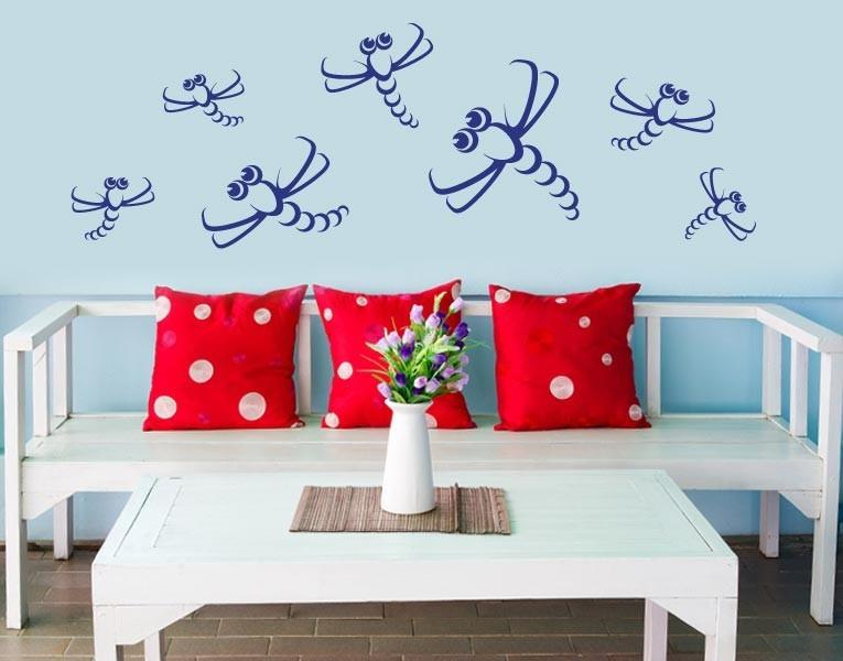 Dragonfly Set II Decal-Wall Decals-Style and Apply