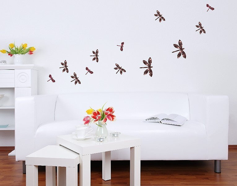 Dragonfly Set Wall Decal-Wall Decal Stickers-Style and Apply