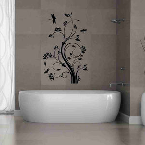 Dragonfly Tendril Wall Decal-Wall Decals-Style and Apply