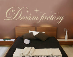 Dream Factory Wall Quote-Wall Decals-Style and Apply