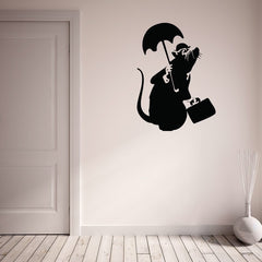 Drowned Rat Banksy Wall Decal-Wall Decals-Style and Apply