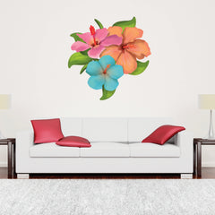 Hibiscus Flower-Wall Decal Stickers-Style and Apply