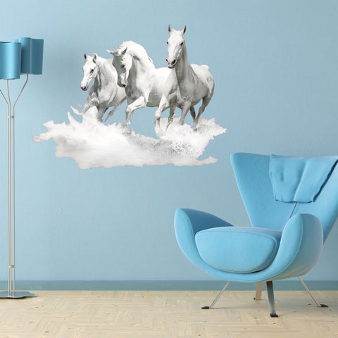 White Horses-Wall Decal Stickers-Style and Apply